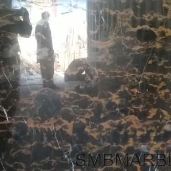 Black and Gold Marble Pakistani Portoro